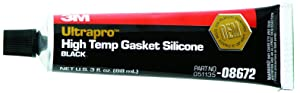 3M 08672 Ultrapro Black High Temp Silicone Gasket Tube - 3 oz.
