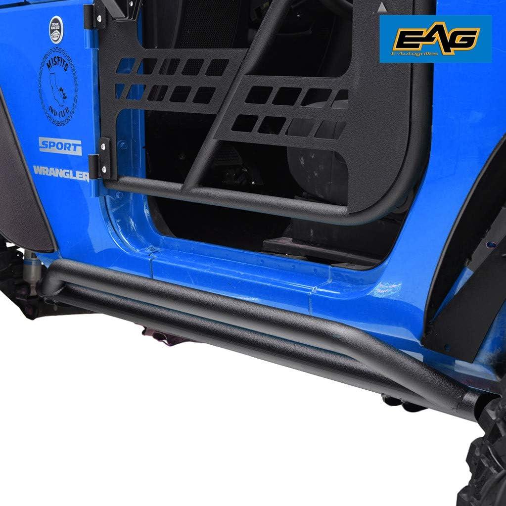 EAG Tubular Rocker Guards Fit for 07-18 Jeep Wrangler JK 4 Door