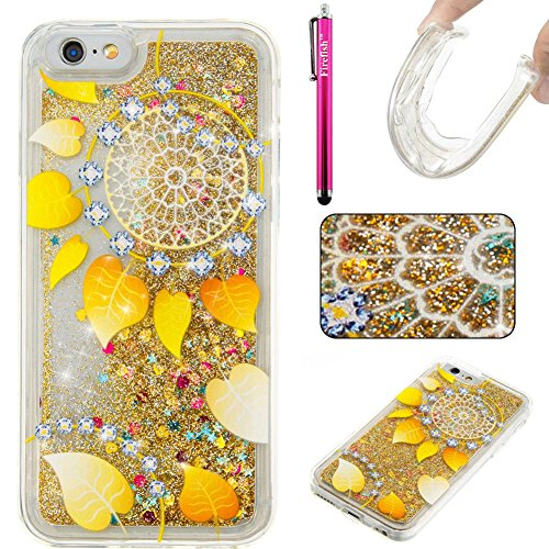 """Price comparison product image iPhone 6 Plus / 6S Plus Case,  Firefish Thin Sparkle Flexible TPU Gel Silicone [Ultra Thin] [Scratch Resistances] Back Cover Shell for Apple iPhone 6 Plus / 6S Plus 5.5"""" -Leave"""