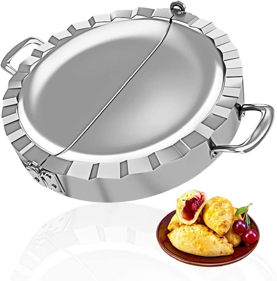 PAMISO Large Empanada Maker, 6 inch Stainless Steel Empanada Press, Pastry Tools, Pocket Pie