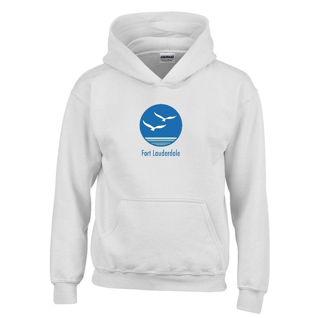 Florida Seagull Youth Hoodie Fort Lauderdale Kids Sweatshirt