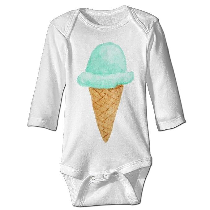 Hielo crema cono Watercolor recién nacido Fashion Body Bebé Pelele Onesie manga larga - negro - : Amazon.es: Ropa y accesorios