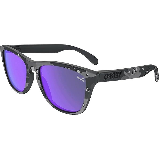 Amazon.com: Lentes de sol Oakley Frogskins, negro: Oakley ...