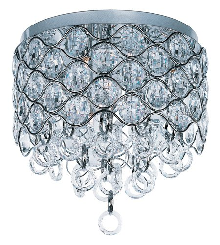 Pendant Cirque Collection (Maxim 23090BCPC Cirque 7-Light Flush Mount, Polished Chrome Finish, Beveled Crystal Glass, G9 Xenon Xenon Bulb , 100W Max., Wet Safety Rating, Standard Dimmable, Glass Shade Material, 1150 Rated Lumens)