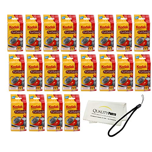 FunSaver Flash 800 ASA 27 Exp Single Use Flash 35mm Camera 5 Pack (20 Pack)