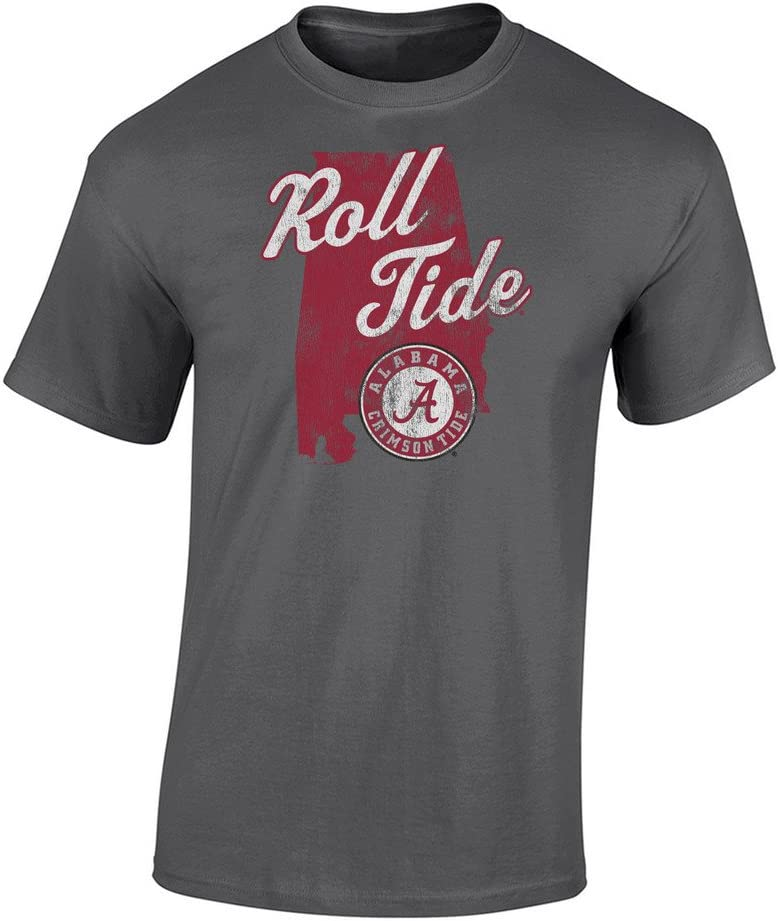 Elite Fan Shop NCAA Mens T Shirt Charcoal Icon