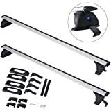 "ALAVENTE 35""-48"" Universal Roof Rack Cross Bar Set with Lock Adjustable for Most Vehicle Wagon without Roof Side Rail (Pack of 2)"