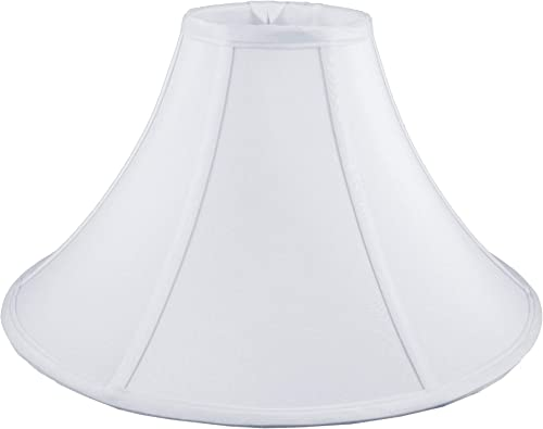 American Pride 7 x 25 x 10.75 Round Soft Shantung Tailored Lampshade, White