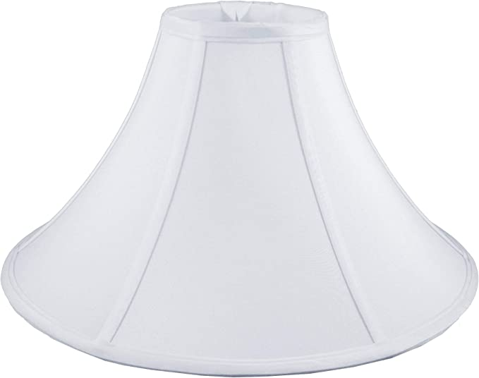 American Pride 5x 12x 7.5 Round Soft Shantung Tailored Lampshade White