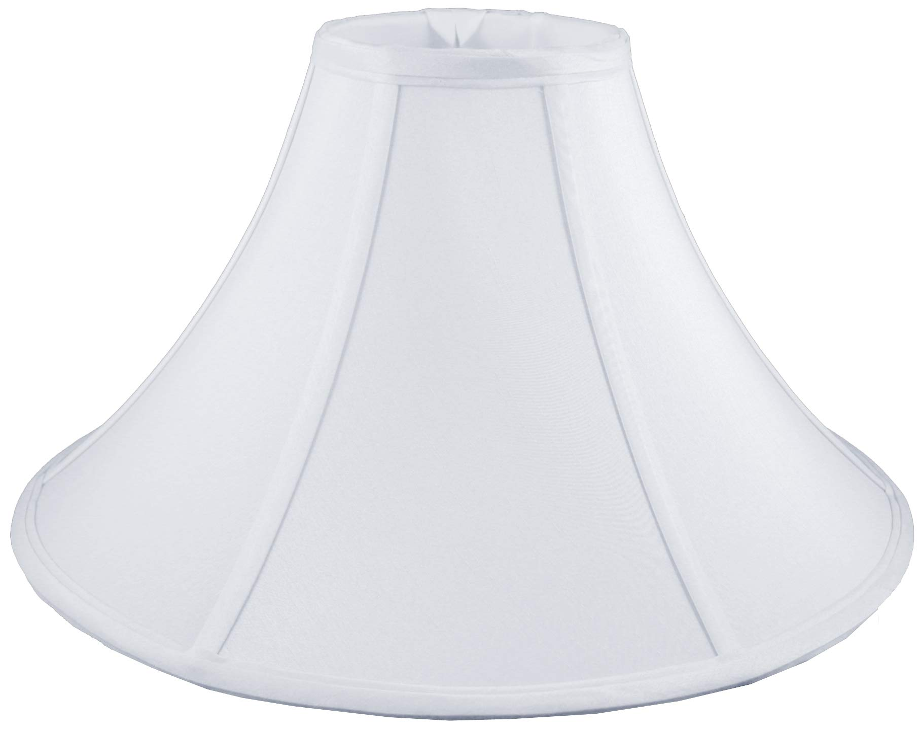American Pride 7''x 18''x 12'' Round Soft Shantung Tailored Lampshade, White