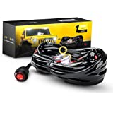 amazon com a team performance 12 standard circuit universal gooacc off road led light bar wiring harness kit 12v on off waterproof switch for vehicle