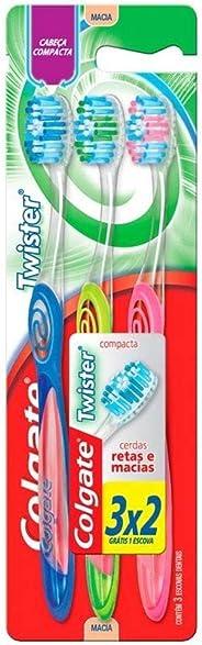 Escova Dental Colgate Twister 3unid Promo Leve 3 Pague 2