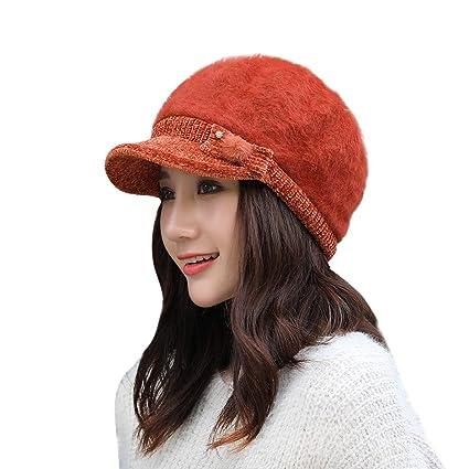 51245ed757d Amazon.com  Quaanti Womens Winter Elegant Cable Flower Knitted ...