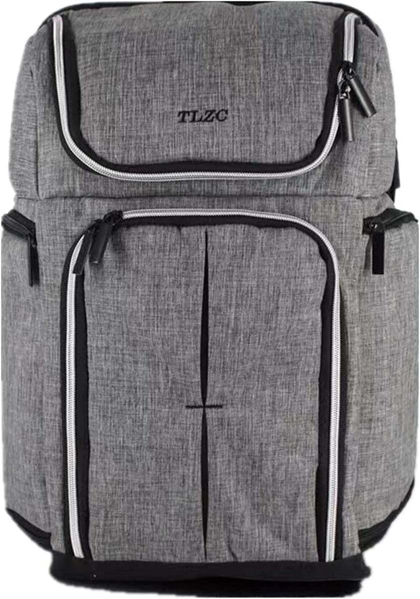 TLZC 30L Doulbe Compartment Insulated Backpack for Lunch Picnic 18 Inch Cooler Bag Outdoor Camping Hiking, Grey