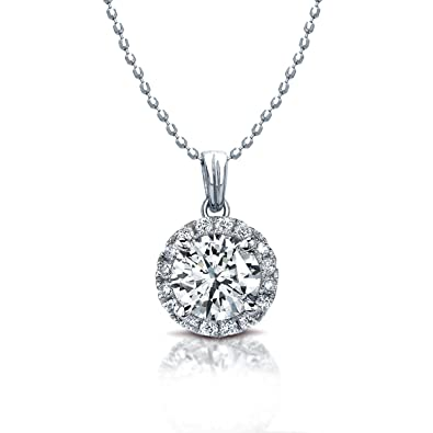 Amazon victoria kay 34ct white diamond halo pendant in 14k victoria kay 34ct white diamond halo pendant in 14k white gold i j aloadofball Gallery