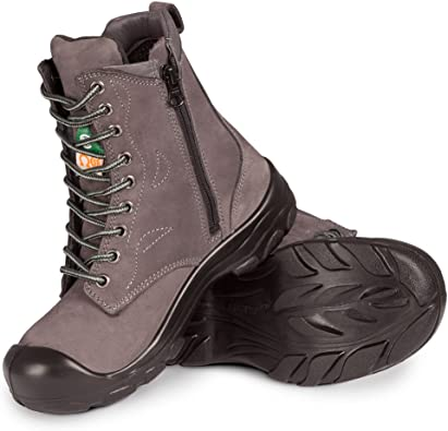 Steel Toe Work Boots   Grey