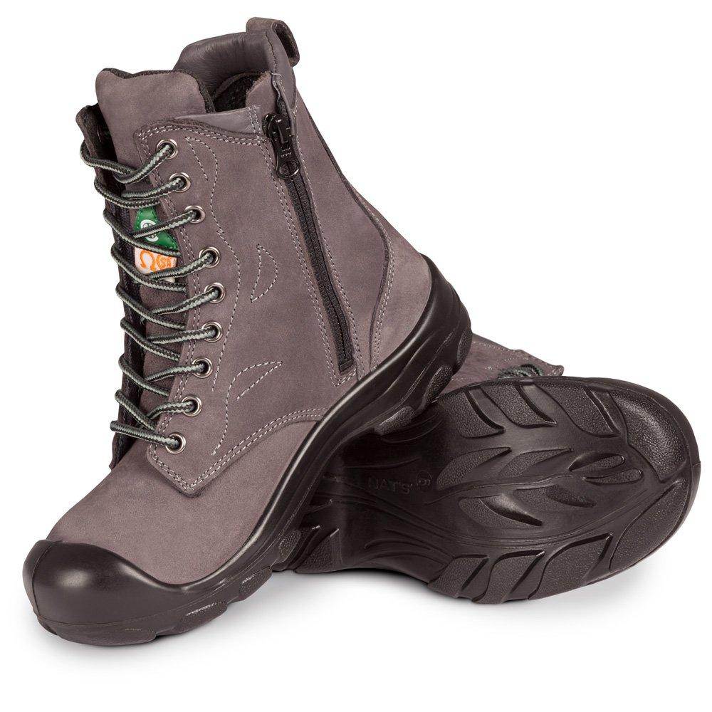 P&F Workwear Women's steel toe work boots | Grey | 8