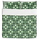Star Mosaic Duvet Bed Set 3 Piece Set Duvet Cover - 2 Pillow Shams - Luxury Microfiber, Soft, Breathable