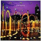 3dRose dpp_61947_1 Olympic Park Atlanta Georgia Wall Clock, 10 by 10-Inch Review