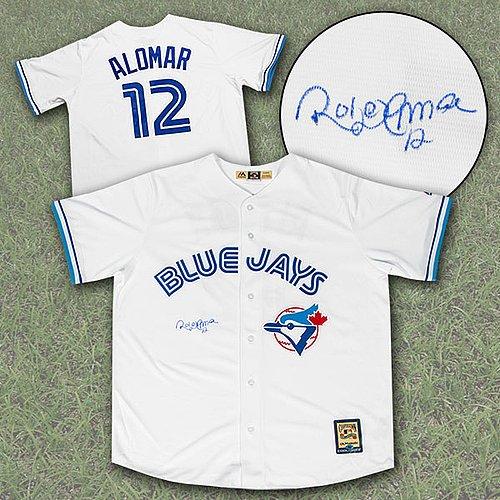Roberto Alomar Toronto Blue Jays Autographed Signed Retro...