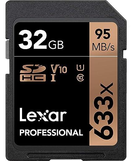 Lexar Tarjeta Profesional 633x 32GB SDHC UHS-I