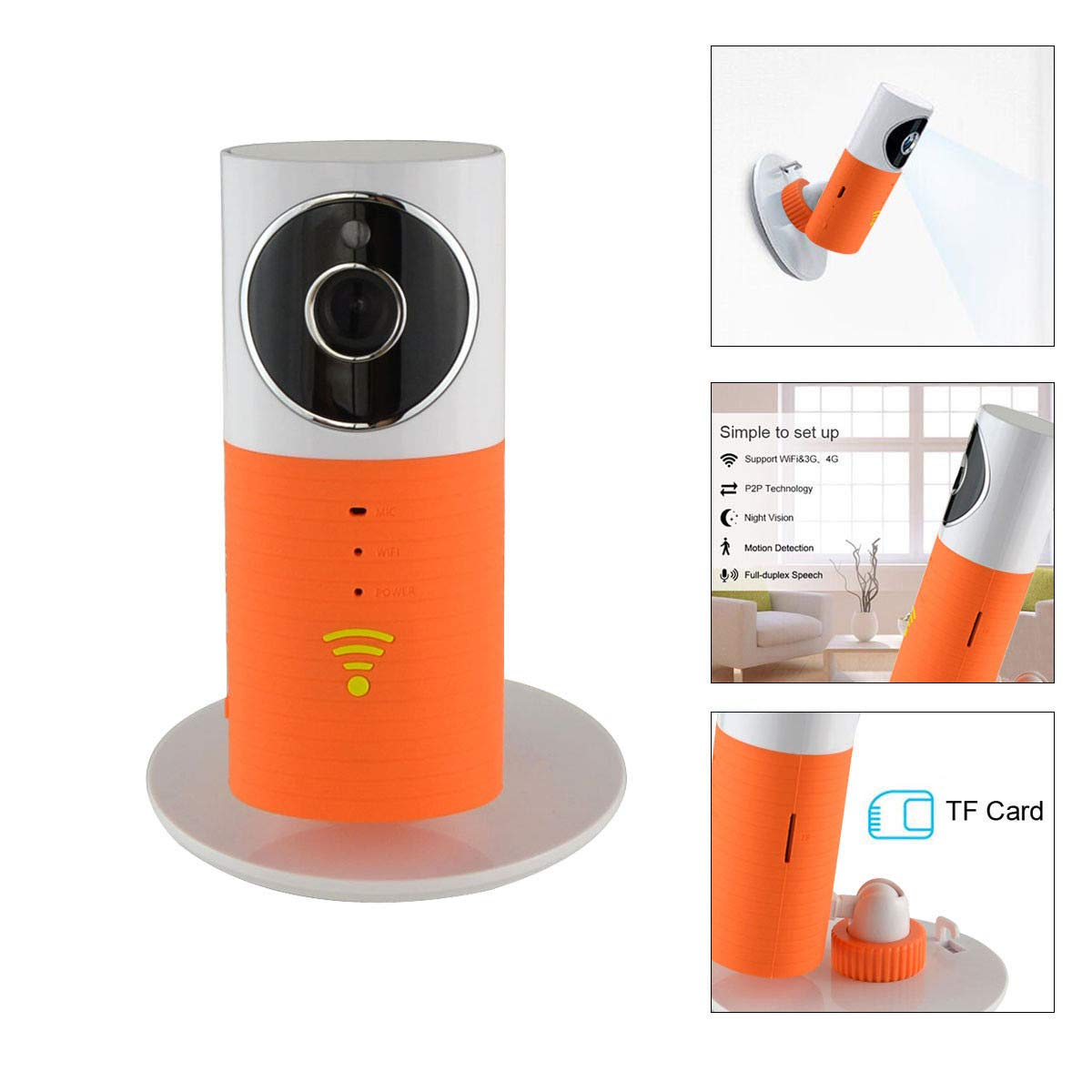 Doggie Camera with Audio and APP, 3T Clever Dog 960P Surveillance Camera for Home