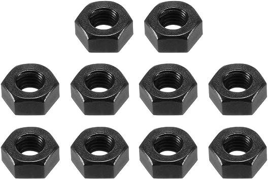 uxcell Nylon Hex Nut Black 50 Pcs M3x0.5mm Metric Coarse Thread Hexagon Nuts