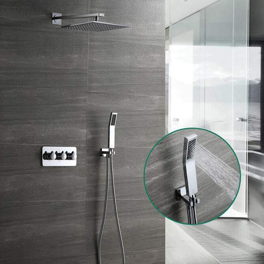 シャワー蛇口高級シャワーシステムスイッチ多層電気メッキプロセスシャワーヘッド壁掛けシャワーシステム B07QWCJ6W1