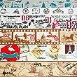 Crafty Rabbit Vintage Travel Vacation Washi Tape, Set of 6