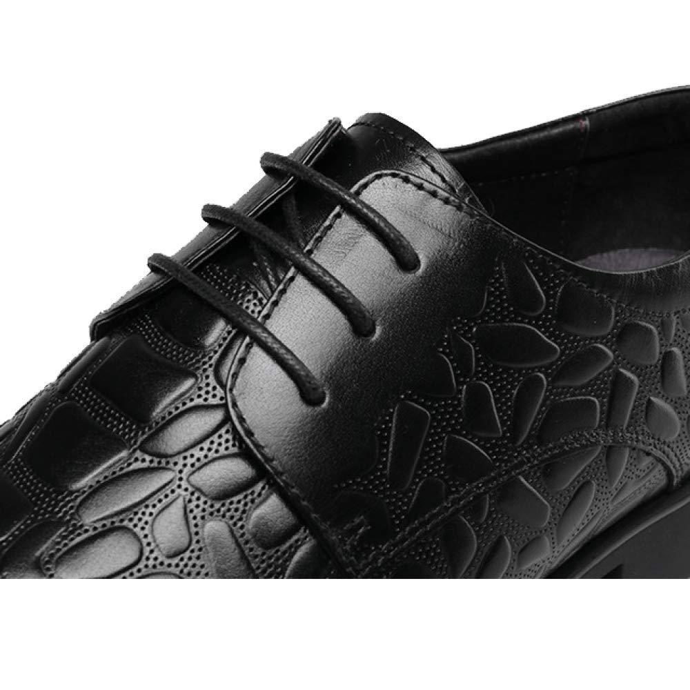 Herrenschuhe Mode Niedrig Business Breathable Beiläufige Spitze Niedrig Mode Top Schuhe Hochzeit Schuhe schwarz 96f53b