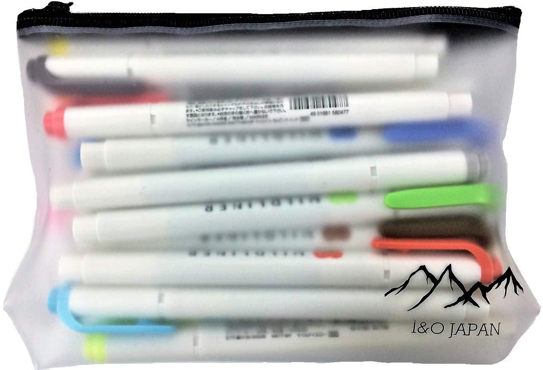 Zebra Mildliner Soft Color Double-Sided Highlighter Pens 20 Color Set(Standard 15 Color + New Warm 5 Color) with Original Vinyl Pen Case by I&O Japan (Image #2)
