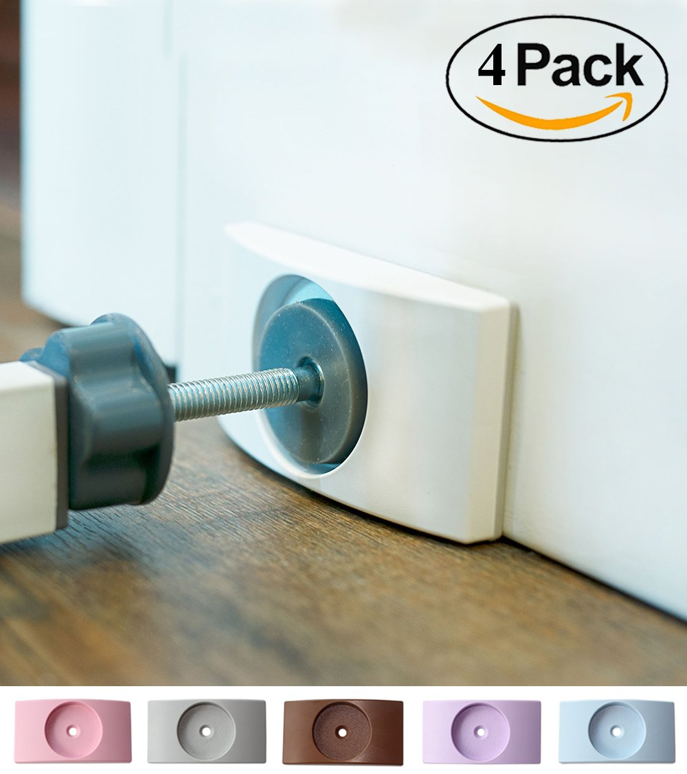 Wall Nanny (4 Pack - Made in USA) Indoor Baby Gate Wall Protector