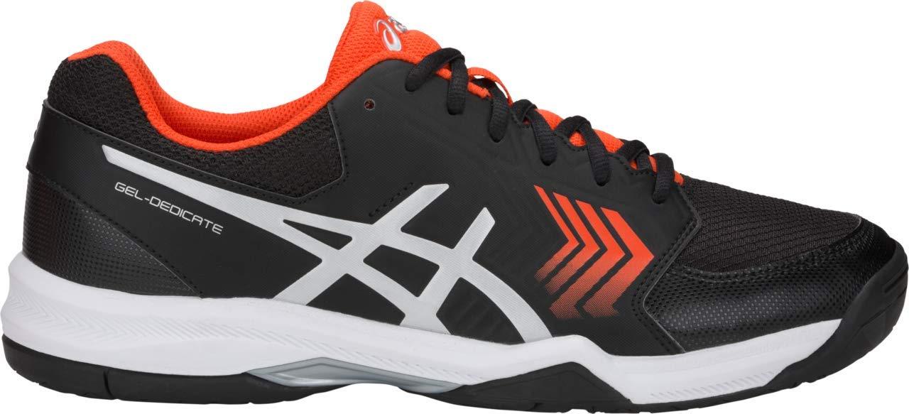 ASICS Gel-Dedicate 5 Men's Tennis Shoe, Black/Silver, 6 D US