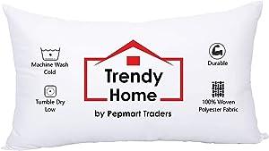 Trendy Home 12x20 Hypoallergenic Stuffer Home Office Decorative Throw Pillow Insert, Machine Washable (12x20)
