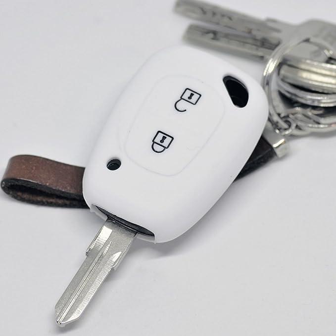 Soft Case Silikon Schutz Hülle Auto Schlüssel Weiß Elektronik