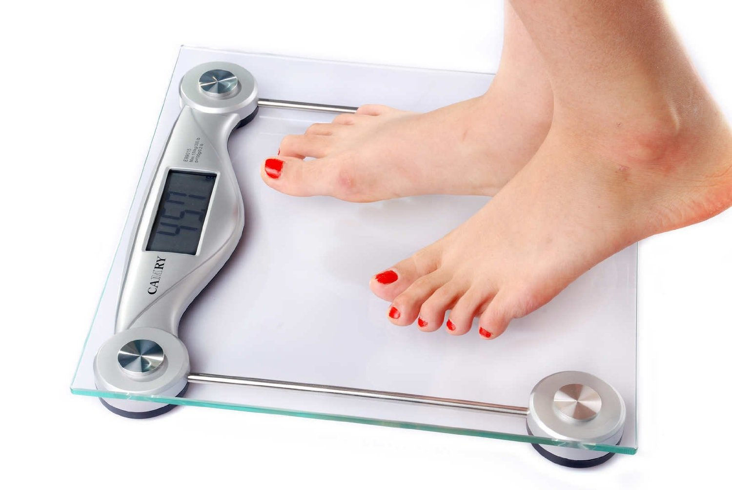 Amazon.com: Camry Precision Digital Bathroom Scale Strong Tempered Glass Platform Measures in Pound or Kg, Silver Color, Body Scale: Health & Personal Care