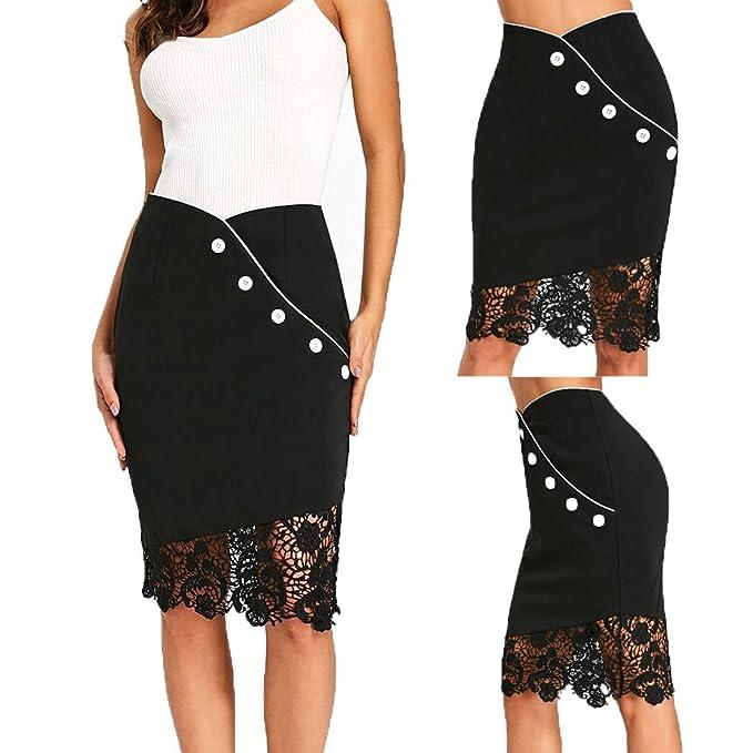 Gusspower Cortas Mujer Verano Faldas Tubo De Moda Faldas Tul Mujer Faldas  Altas De Cintura Faldas Acampanadas De Mujer Mini Faldas Tallas Grandes  Ajustada  ... d5132c1abd94