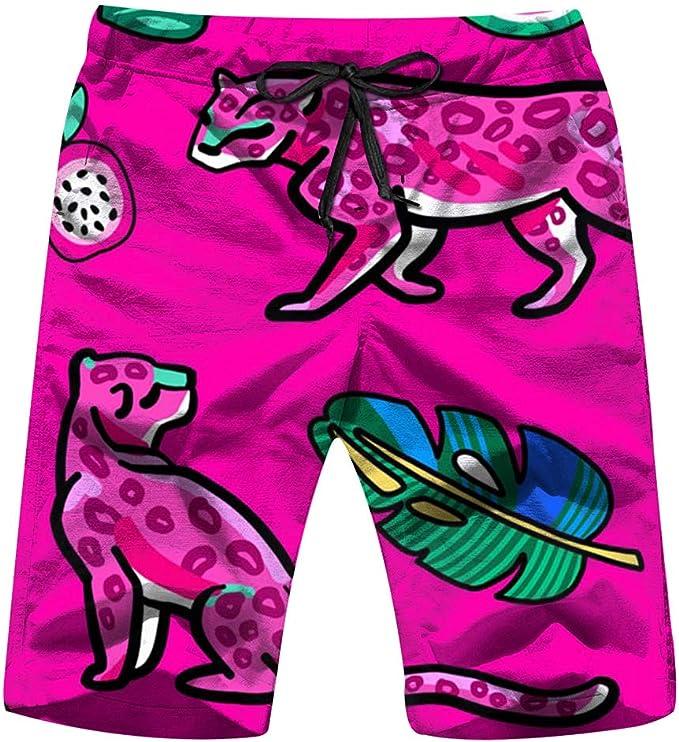 Boys Board Shorts Animal Leopard Print Quick Dry Swim Surf Trunks