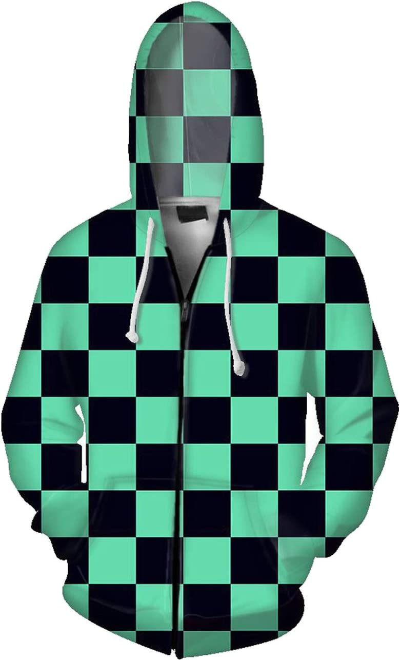 コスプレ衣装コスチューム鬼滅の刃パーカーコートジャケットフード付き【かまどたんじろう】