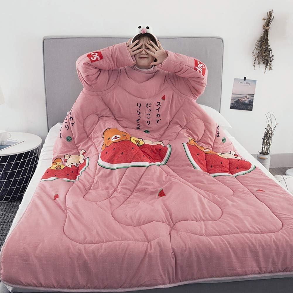 寝具布団カバー 冬の怠惰なキルト暖かい多機能暖かいソファのオフィスの子供たちは寝ているキルトを着ることができます 超ソフト低刺激性 (色 : D, サイズ : 120*160CM) D 120*160CM