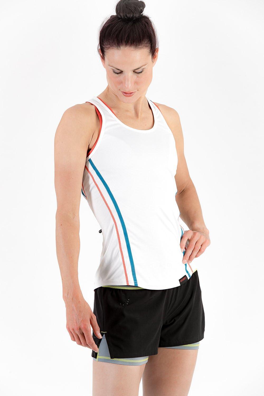 Sundried Frauen-Gym Shorts Jogging Fitness und Training 2-in-1 Schwarz Kurz Shorts