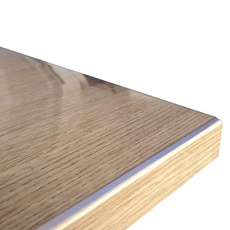 Tischfolie Folie Tischdecke PVC Schutzfolie 80 cm Breite Weiss mit Muster 1,6 mm
