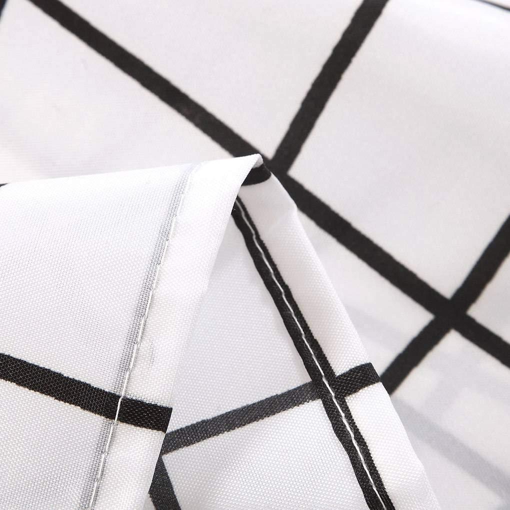 Yosiyo Grille imperm/éable Treillis Rideau de Douche Suspendu D/écor Salle de Bain Fen/être Rideaux Shade Blackout Noir Blanc