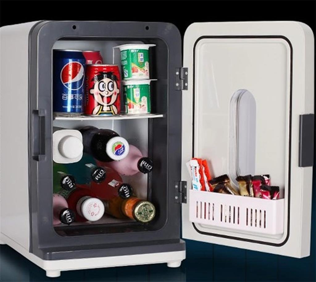 LonVe 18L Dual-Core Auto Kühlung, Auto Haus Kühlschrank Gefrierschrank Kühler für Kosmetik Rotwein Lebensmittel Kaltes Getränk, 27  36  43 cm, Leistung 60 Watt
