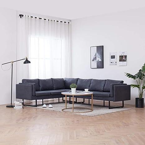 FESTNIGHT Sofá de Esquina Moderno Sofá Chaise Longue Sofá ...