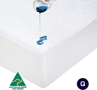 Luxor Cotton Terry Fully Fitted Waterproof Mattress Protector - 7 (Queen)