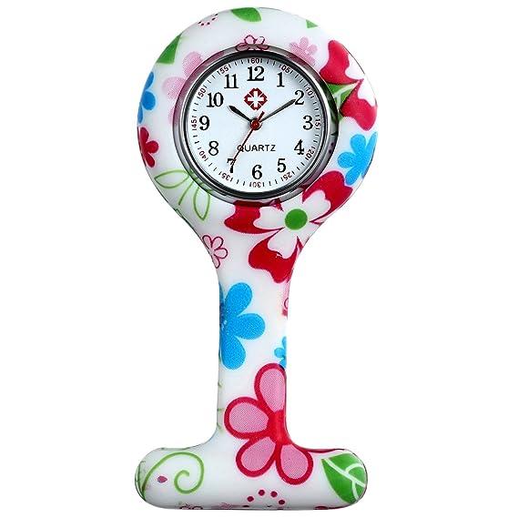 Lancardo Reloj de Bolsillo de Silicona Reloj Médico de Doctor Enfermera Paramédico Prendedor de Broche Uniforme
