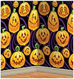 Kitchen & Housewares : Beistle 00711 Jack-O-Lantern Backdrop, 4-Feet by 30-Feet