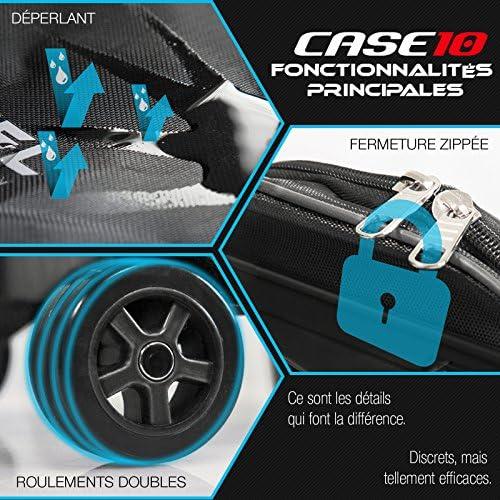 """Bluewheel CASE6.5/CASE10 Sac à Dos pour Gyropode, avec 2 roulettes, 2 rembourrages au Dos, poignée télescopique & Poche Filet - Déperlant & indéchirable - pour 6,5"""" ou 10"""" (Case10)"""