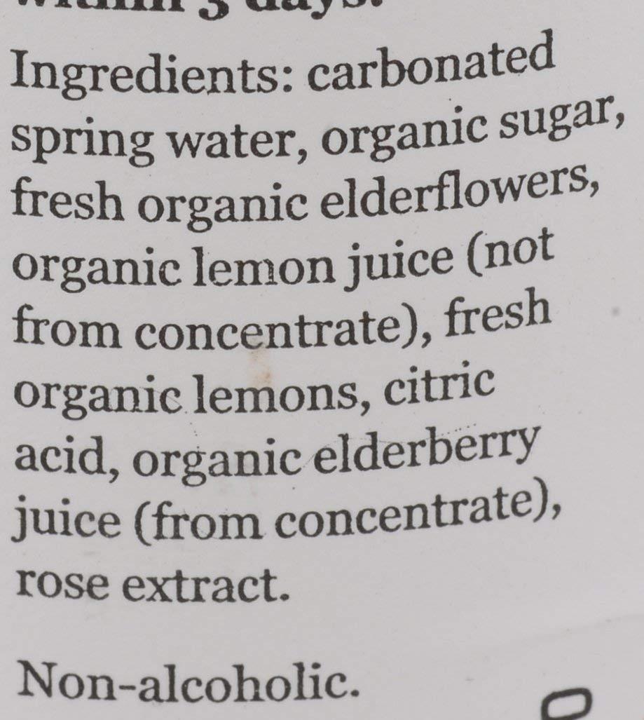 Belvoir, Lemonade Elderflower Rose Organic, 8.4 Fl Oz